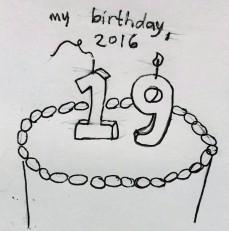 my birthday 2016