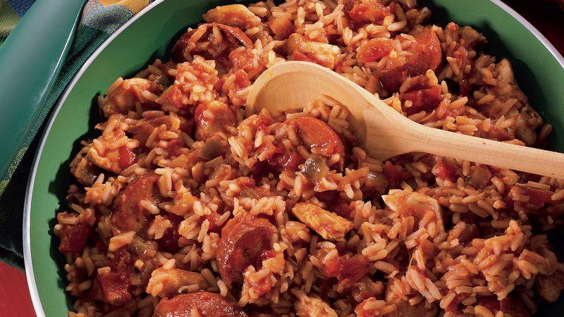 Un ingrediente esencial de jumbalaya: lasalchicha